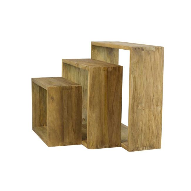 Holzregal 3er Set