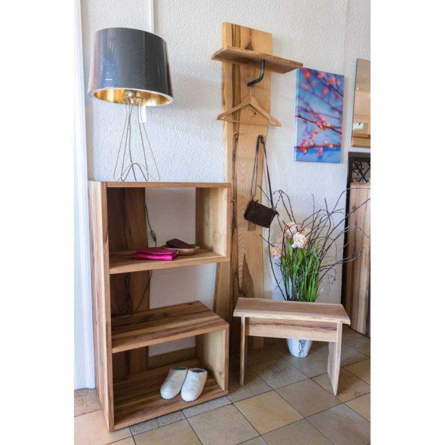 Holzbank Garderobe