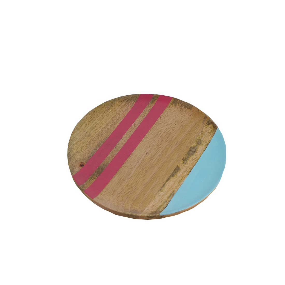 Holzteller mit Multicolor