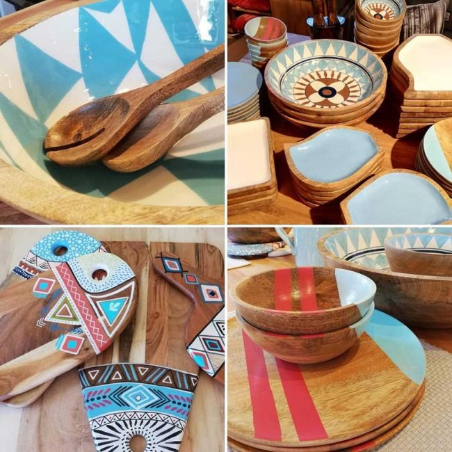 Holzteller Holzschüssel Holzbrett