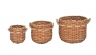 POT BASKT SET 3 PCS WITH FIBER ROPE TAMBANG HANDELS