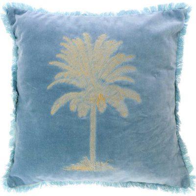 Kissen Palm blau