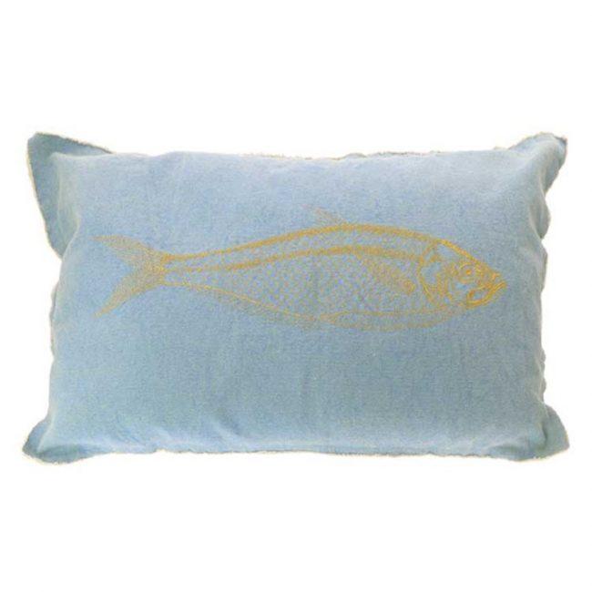 Kissen Fisch Blau