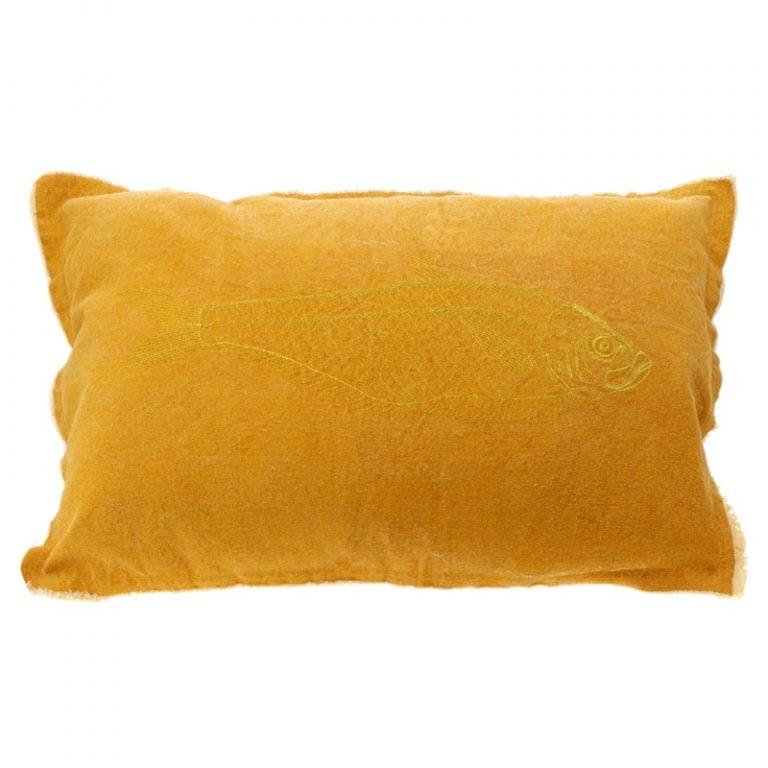 Kissen Fisch Gelb