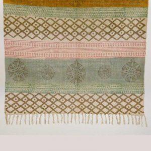 Teppich Baumwolle Handgemacht mit Quasten