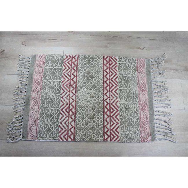 Läufer Teppich 60 x 90 Baumwolle