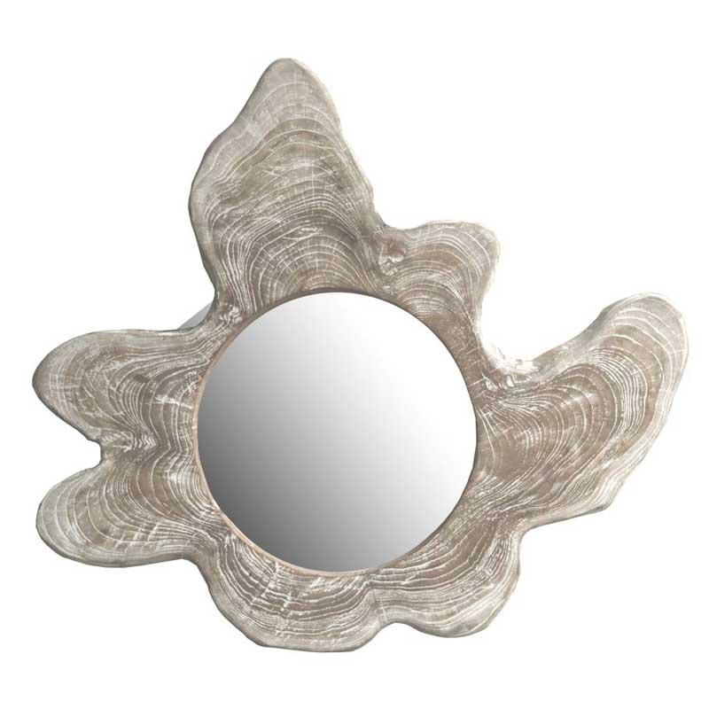 Spiegel Slice aus Teak Wurzelholz