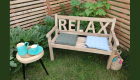 Holzbank Relax 2-Sitzer