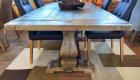 Esstisch aus recycling Bootsholz