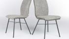 Stuhl mit Leder Stoffbezug
