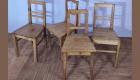 Verschiedene Holzstühle