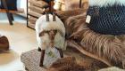 Hocker Schaf und Dekorationen