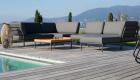 Lounge Set Ottomane Gartentisch